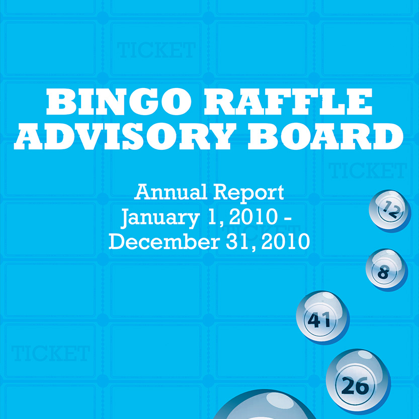 2013 Idaho Lottery Annual Report (Cover)