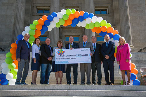 Idaho Lottery Commission Presents Dividend Check to Governor and Education