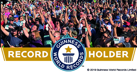 Crowd of 479 people who set Guinness World Records title on July 19, 2019